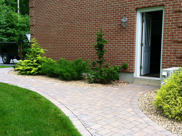 New brick walkway enhances this Amherst New Hampshire home