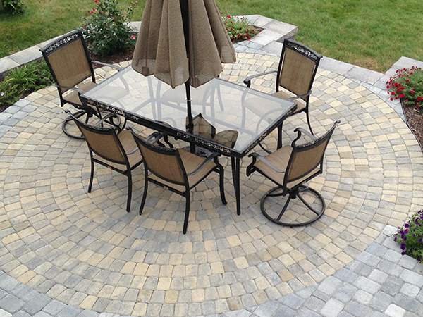 Paver patio in Bedford New Hampshire